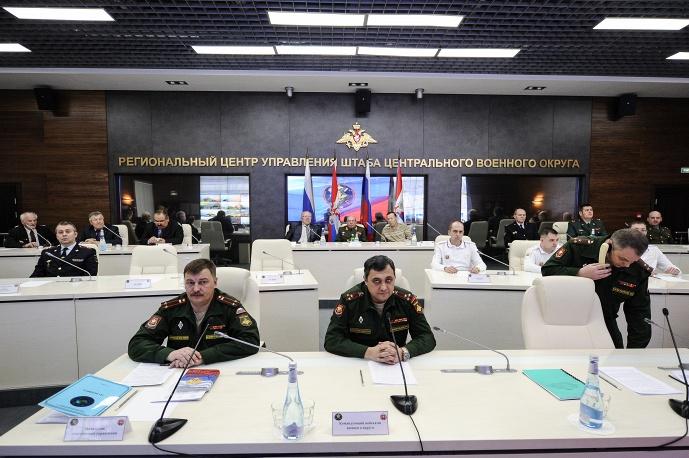 Региональный центр управления штаба ЦВО заступил на боевое дежурство