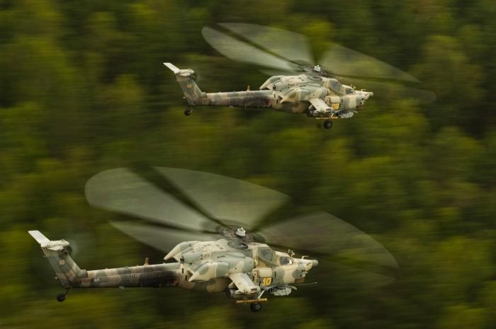 В ЗВО поступили четыре ударных Ми-28Н