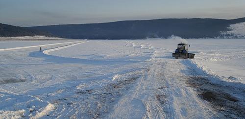 Ледовую переправу на реке Ия открыли в Тулунском районе Иркутской области