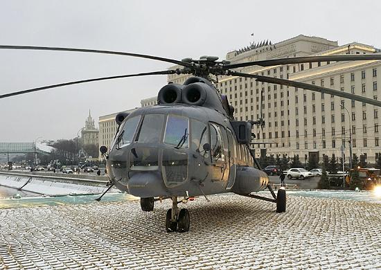 На Фрунзенской набережной Москвы открыт причальный комплекс с вертолетной площадкой Национального центра управления обороной РФ