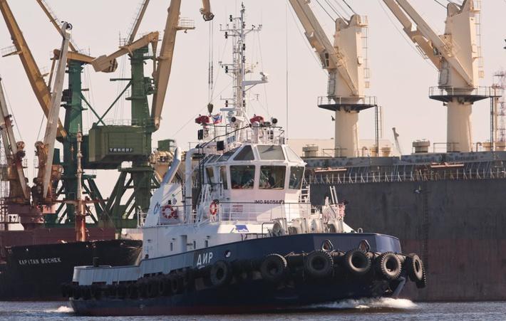 Завод «Пелла» спустил на воду буксир «МБ-96» для Балтийского флота