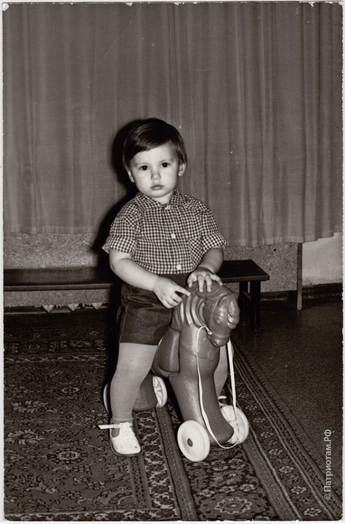 Я на лошадке в яслях в 1985-86 гг.