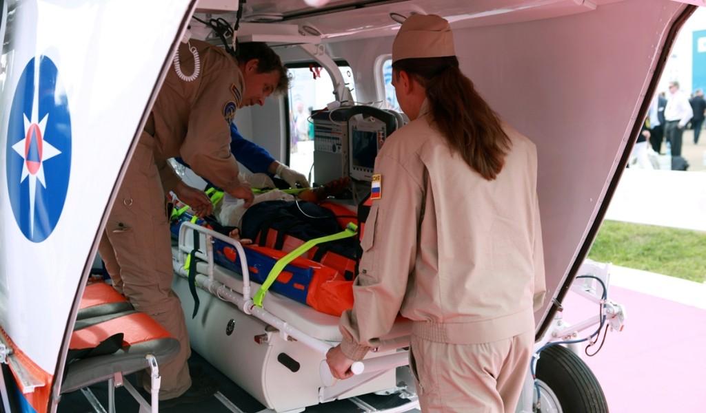 Новейшими средствами медицинской эвакуации