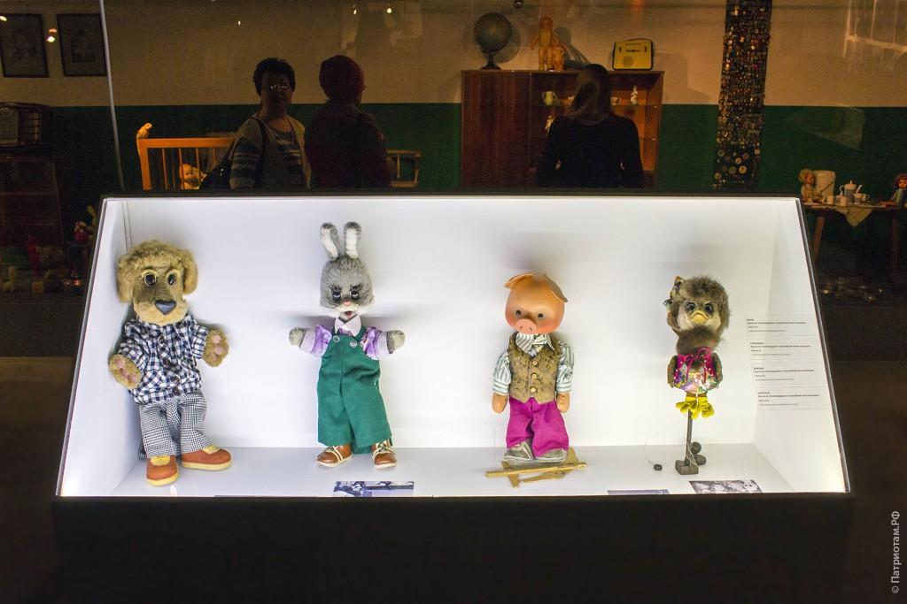 """Филя, Степашка, Хрюша и Каркуша - герои программы """"Спокойной ночи малыши!"""" 1970-х годов"""