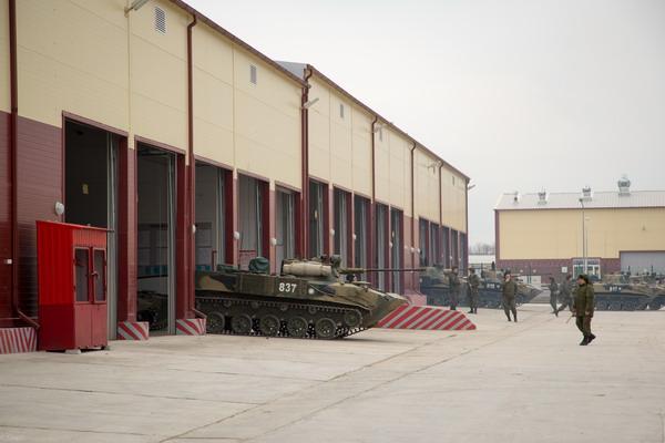 Завершено строительство объектов военного городка на полигоне Раевский.