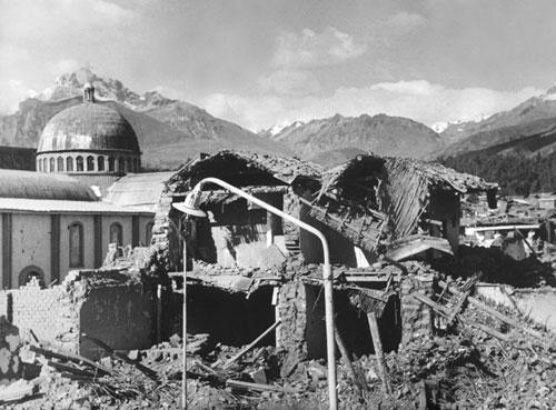 После землетрясения, департамент Анкаш, г. Уарас, 1970 г.