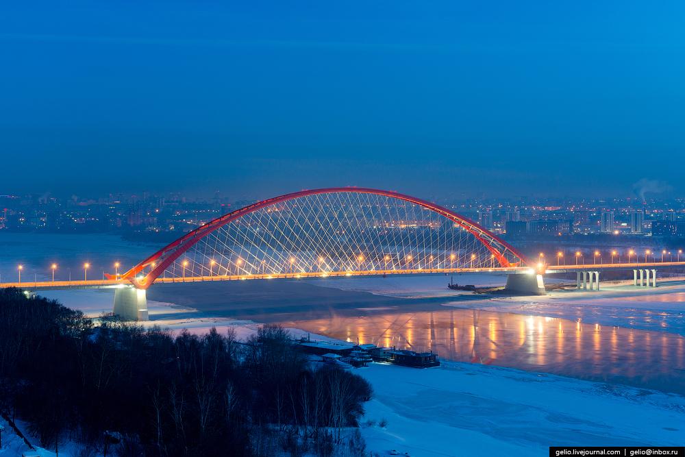 Зимний новосибирск – красота русских