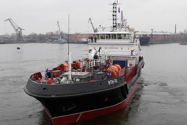 Балтийский флот получил новое судно комплексного портового обслуживания