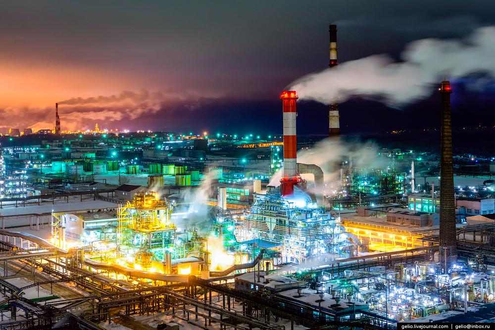 Фоторепортаж с нефтеперерабатывающего комплекса «Башнефть»