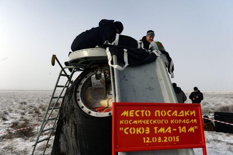 Экипаж ТПК «Союз ТМА-14М» вернулся на Землю