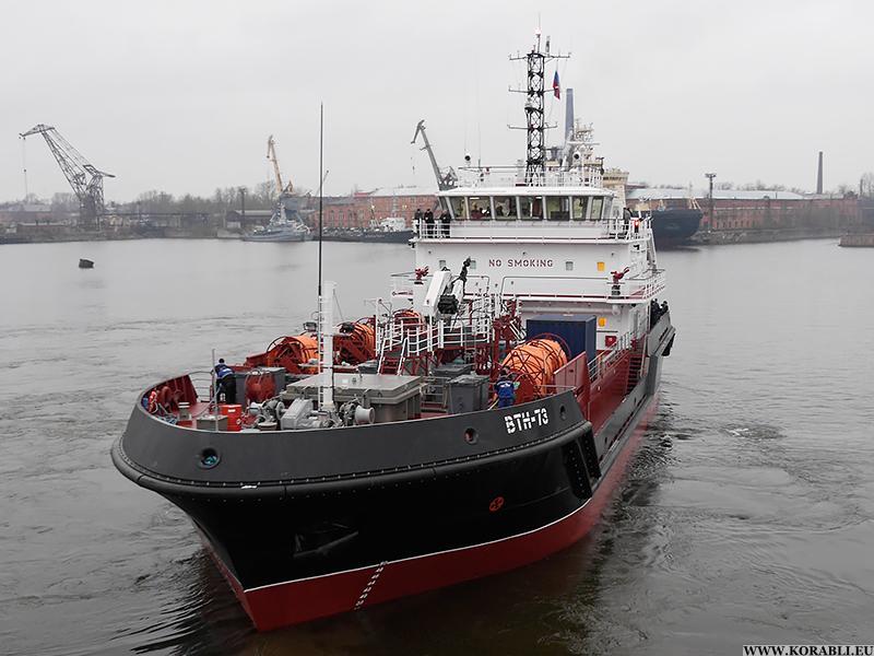 """Новое судно комплексного портового обслуживания """"ВТН-73"""" проекта 03180 торжественно принято в состав ЧФ"""