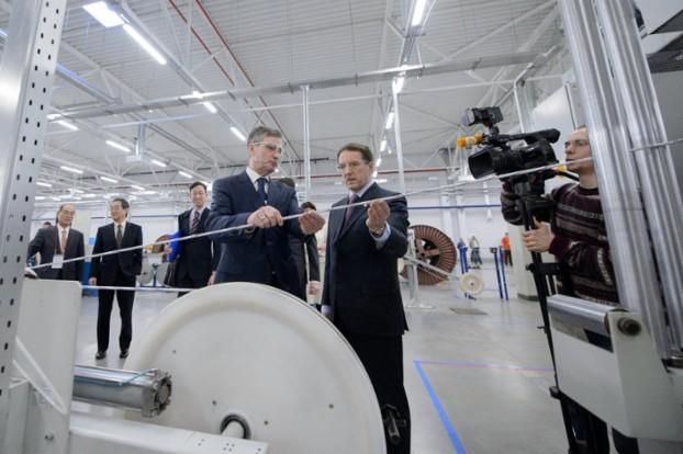 В Воронежской области состоялось открытие завода по производству волоконно-оптического кабеля
