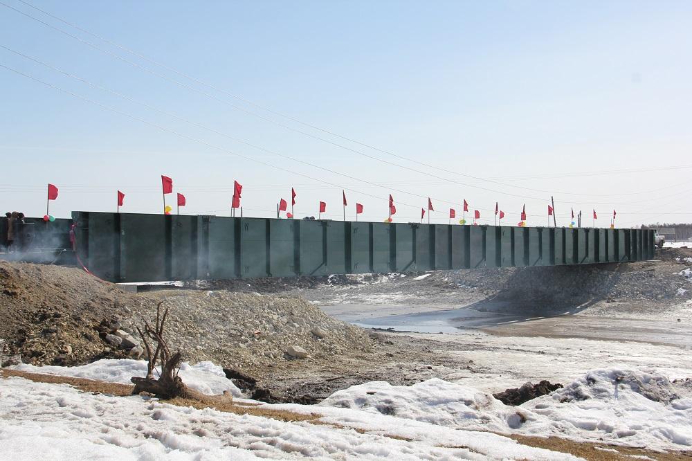 Большой автомобильный разборный мост построили в Якутии