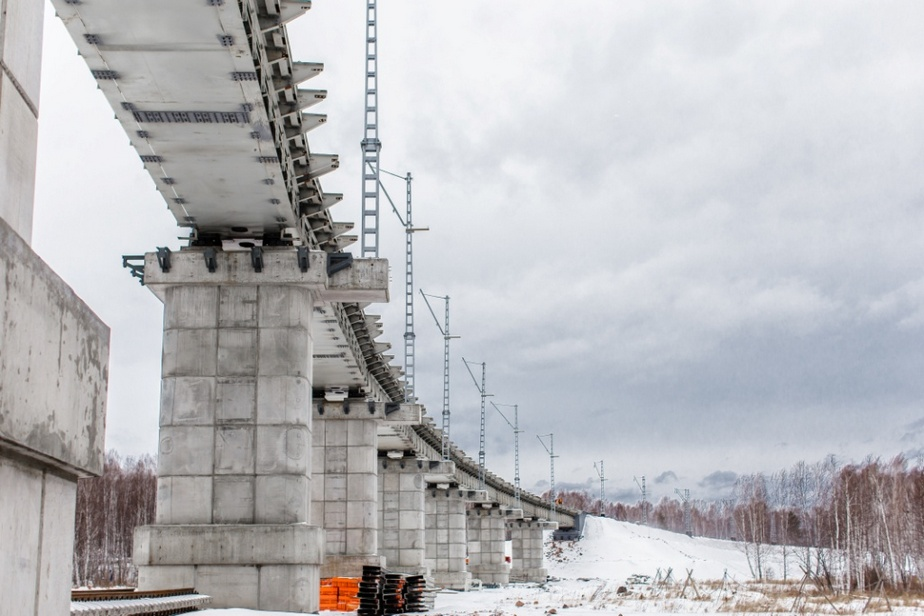 В Красноярском крае построен новый железнодорожный мост