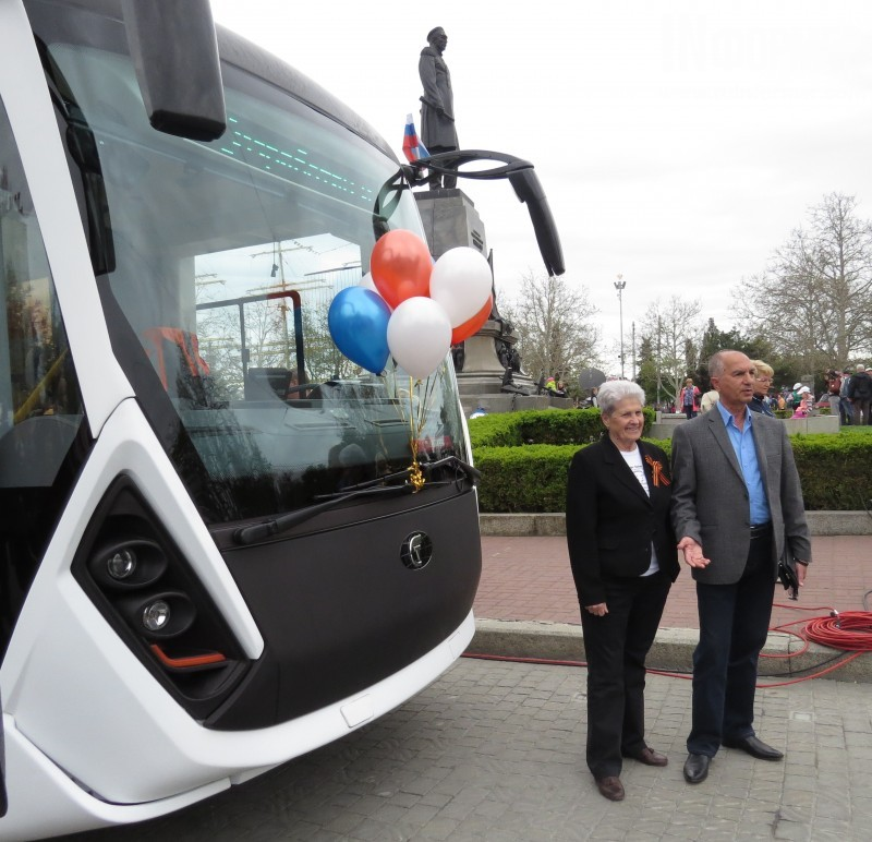 В Севастополь прибыл новый троллейбус Адмирал от ТВЗ