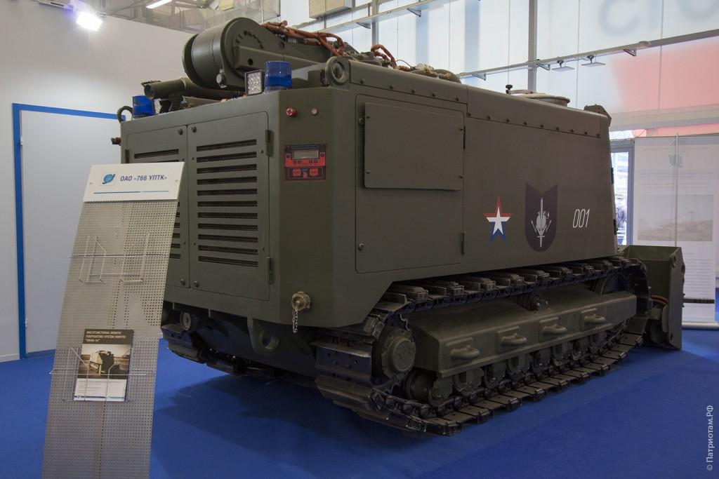 Многофункциональный робототехнический комплекс пожаротушения (МРТК-П) «Уран-14».