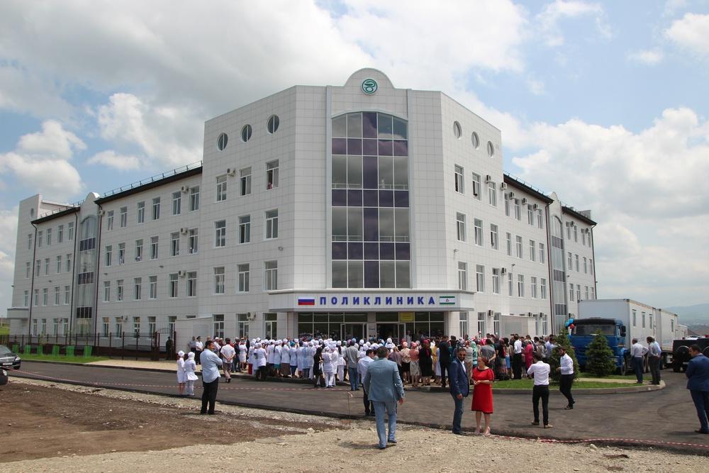 В Ингушетии торжественно открыто новое здание городской поликлиники