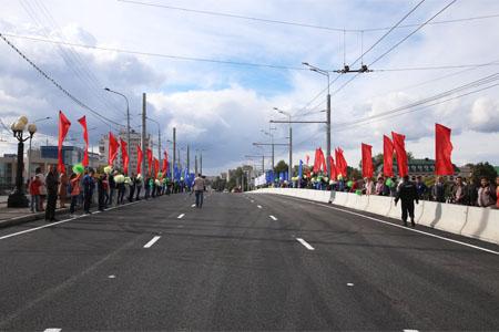 Новый мост открыт в центре Йошкар-Олы