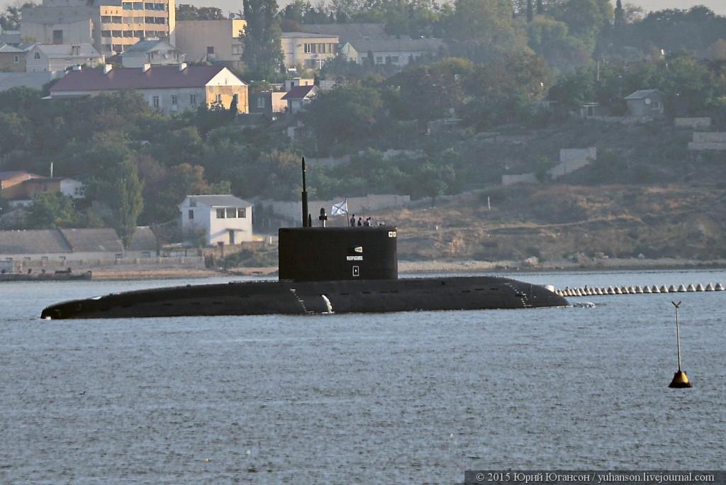 Новая подводная лодка «Новороссийск» пришла в Севастополь