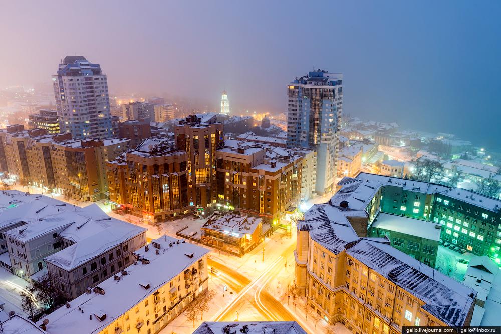 Пересечение Молодогвардейской и Ульяновской улиц в Самаре