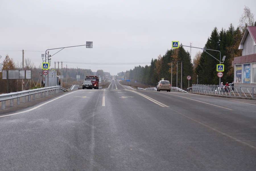 В Вологодской области открыли мост и 27 километров обновленной автодороги А-119 «Вологда-Медвежьегорск»