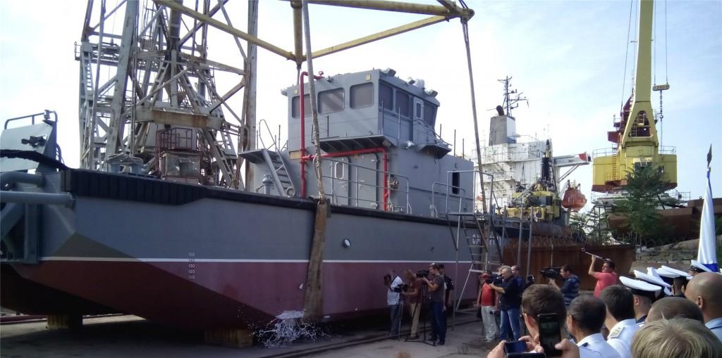 Спущен на воду 11-й катер проекта 23370