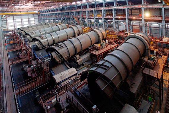 На Михайловском ГОКе в Курской области запущен крупнейший в России комплекс обжиговой машины
