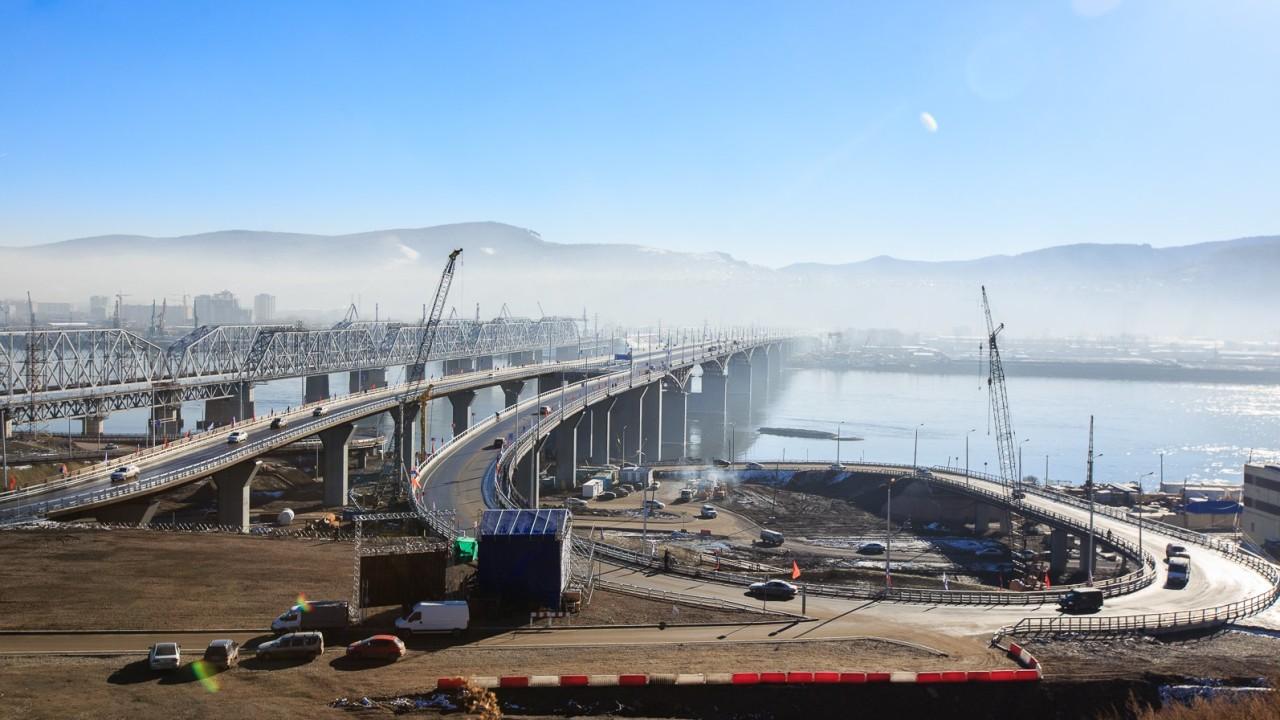 Четвёртый автомобильный мост через Енисей построен в Красноярске