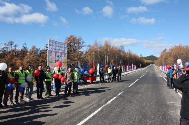 Новый участок дороги на трассе Селихино — Николаевск-на-Амуре