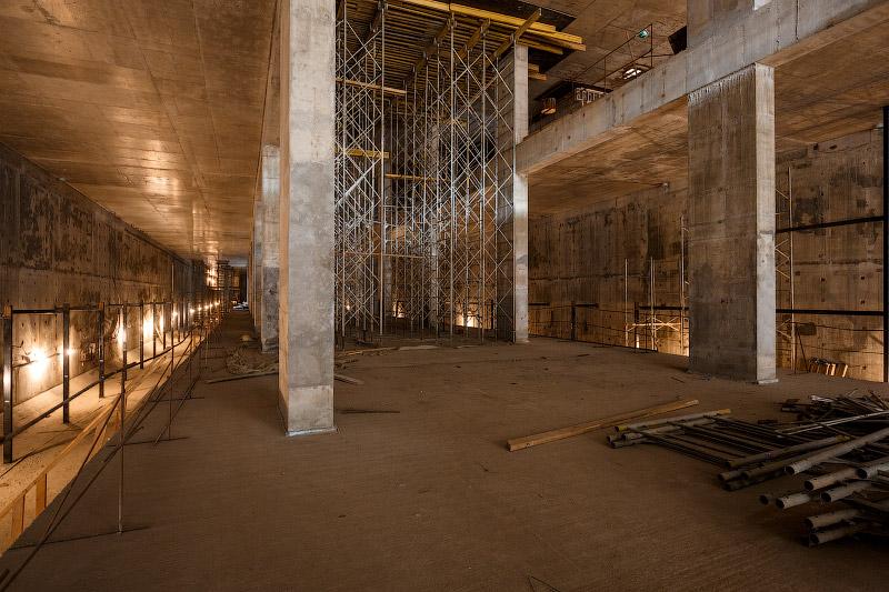 Процесс строительства станции метро Селигерская в Москве (фотоотчет)