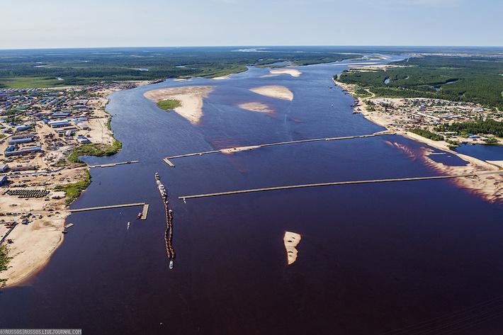Начался подготовительный этап строительства моста через реку Пур на Ямале
