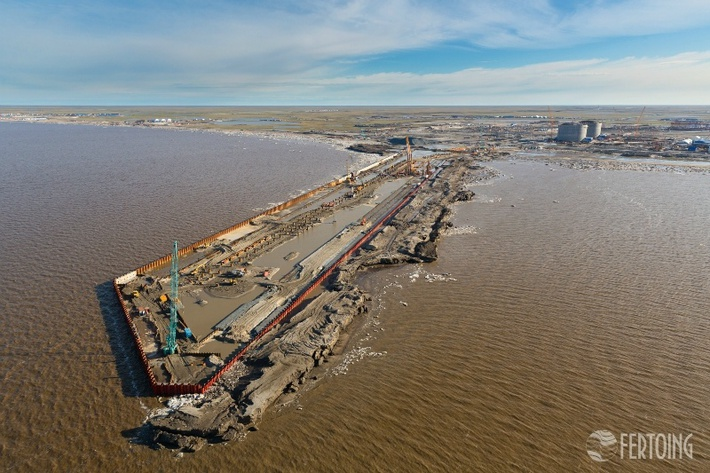 Строительство порта Сабетта - фотоотчет 3