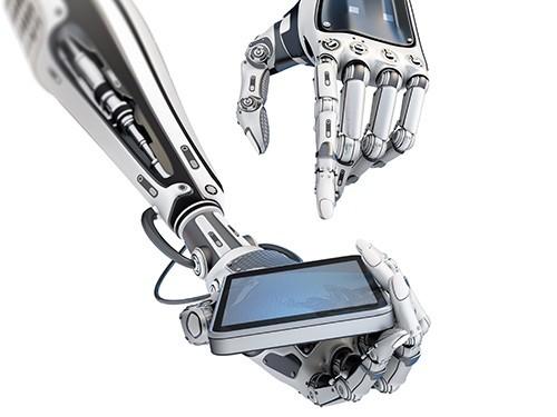 протез, управляемый через смартфон