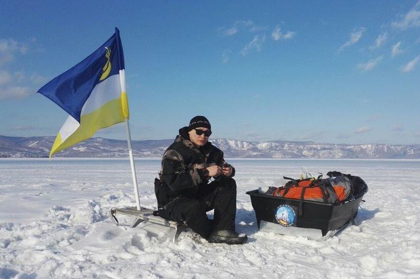Экстремал из Томска в одиночку пересек Байкал пешком за месяц