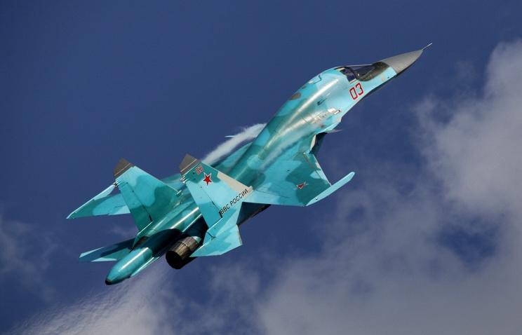 Пилоты на Су-34 и МиГ-31БМ отработали перехват условного противника в стратосфере
