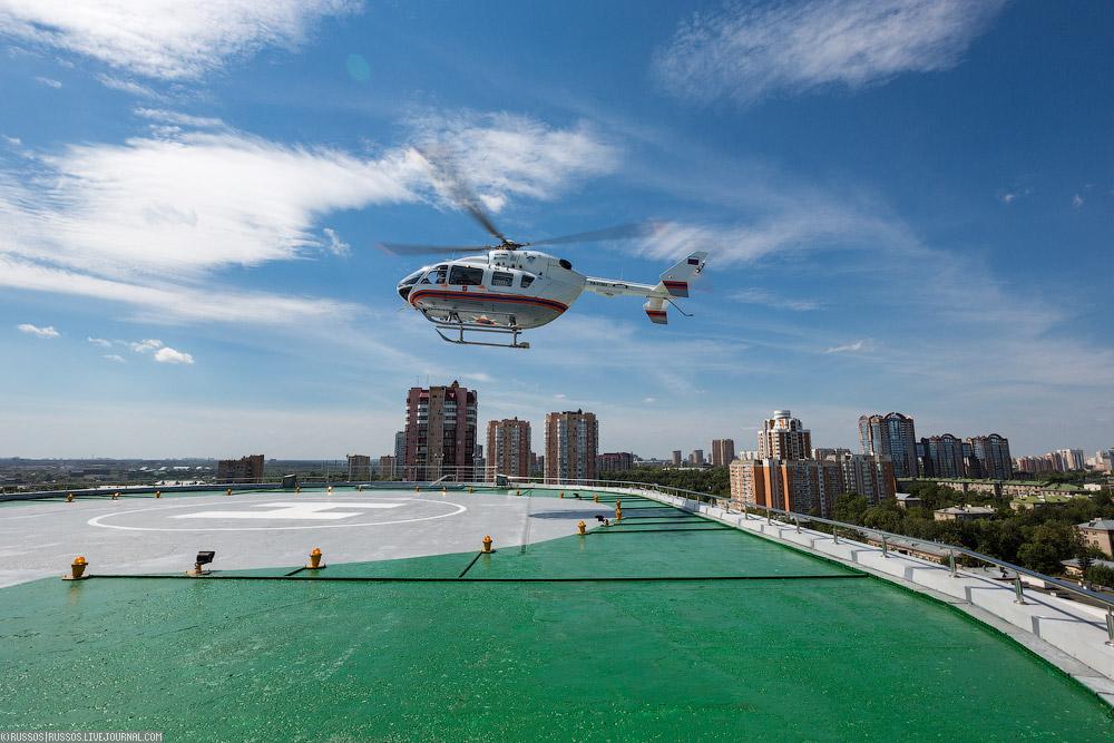 Санитарные вертолеты Москвы
