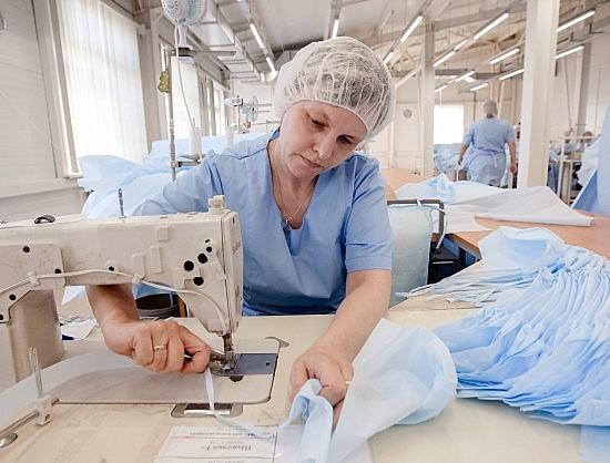 В Новосибирской области открыто производство медицинской одежды