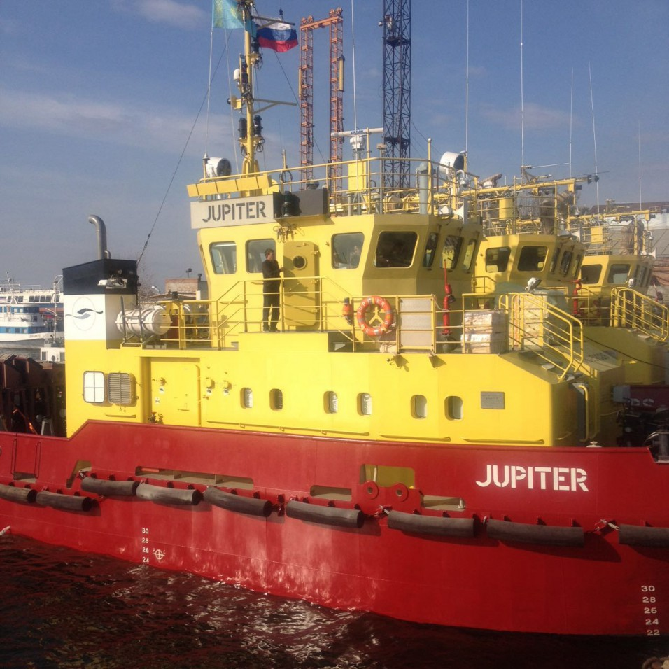 Астраханская верфь передала казахскому заказчику OMS Shipping буксир Юпитер