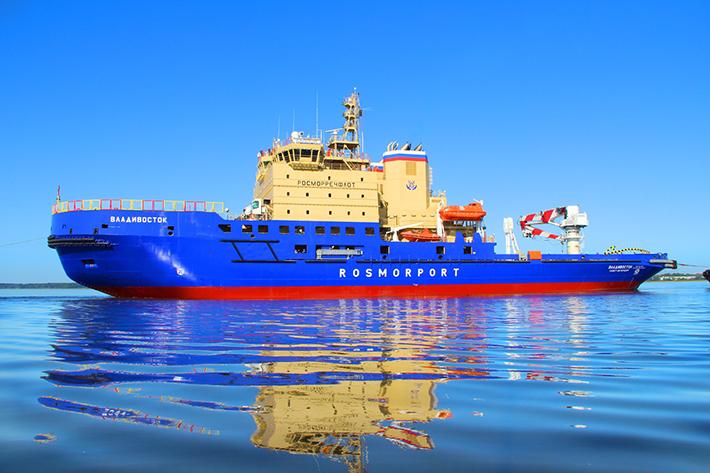 Два новых ледокола российского флота прибыли на ходовые испытаниявМурманске