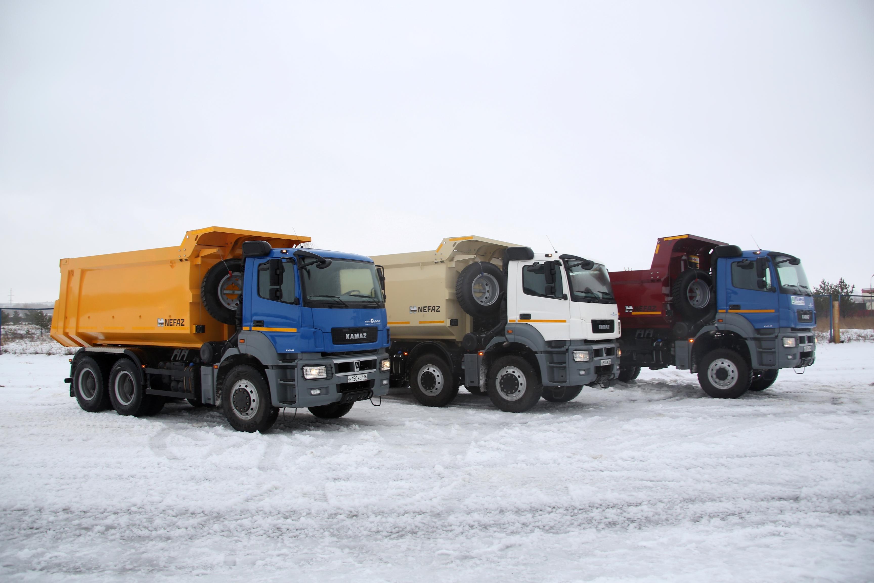 С конвейера КАМАЗа сошла первая партия самосвалов новой модели