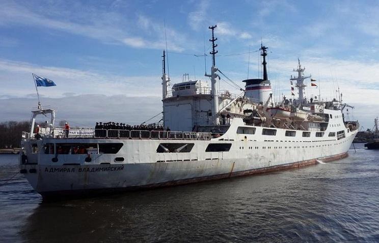 Судно Адмирал Владимирский вернулось в Петербург после похода в Антарктику