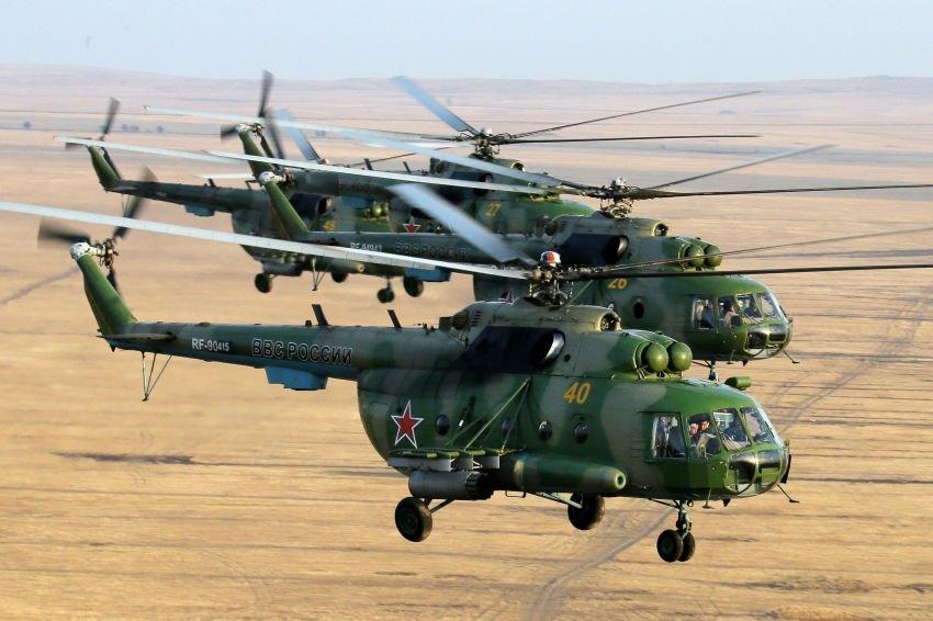 В ВВС Западного военного округа поступили два вертолета Ми-8 МТПР-1 с системами активных помех Рычаг-АВ