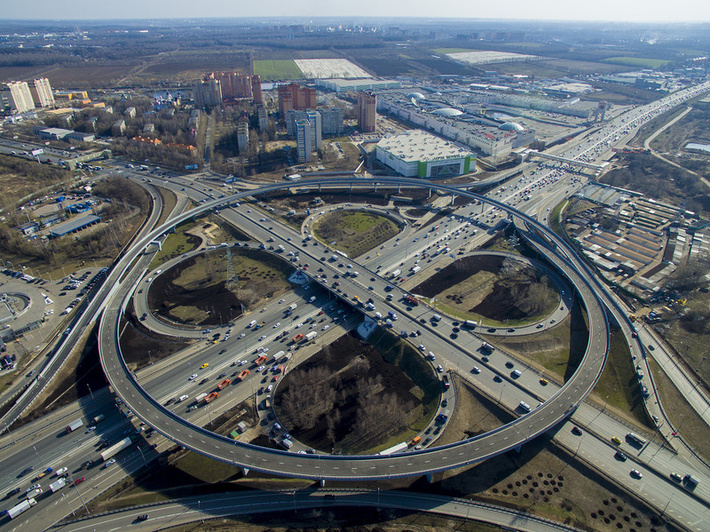 Завершена реконструкция развязки на пересечении МКАД и Каширского шоссе