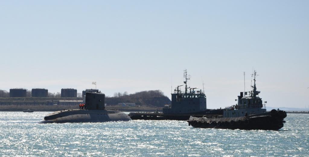 Подводная лодка «Комсомольск-на-Амуре» спущена на воду в Приморском крае