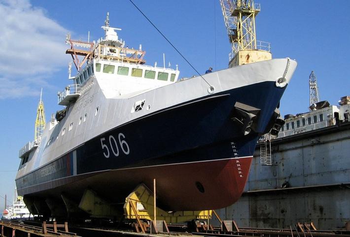 Пограничный сторожевой корабль «Проворный» спущен наводу в Санкт-Петербурге
