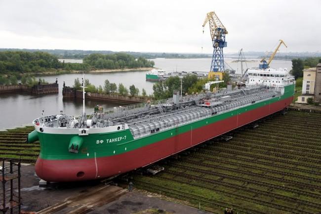 Судостроительный завод Красное Сормово спустил на воду танкер для компании Балт Флот Танкер