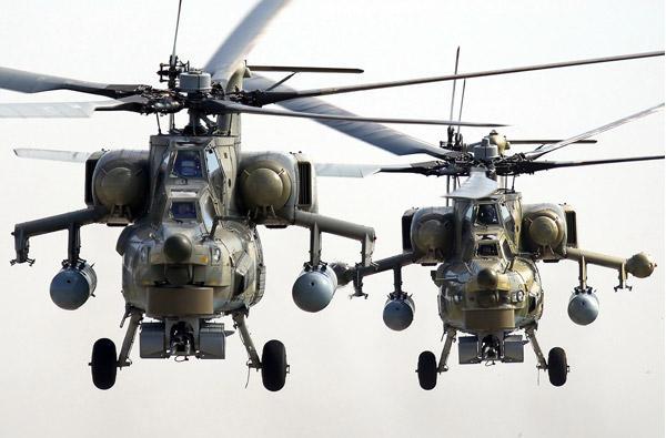 В течении 3-х лет Россия поставит за рубеж свыше 150 боевых вертолетов