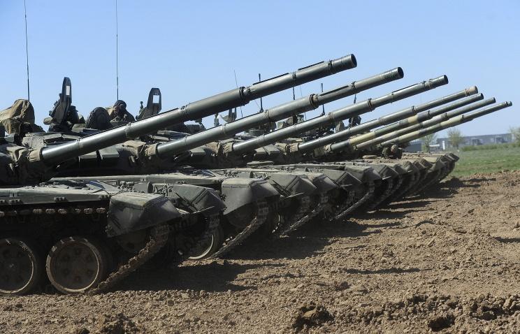В Оренбургскую мотострелковую бригаду поступила партия из 30 новых танков Т-72Б3