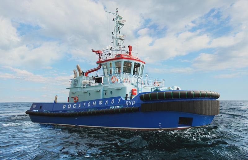 Флот Росатомфлота пополнился новым отечесвенным буксиром