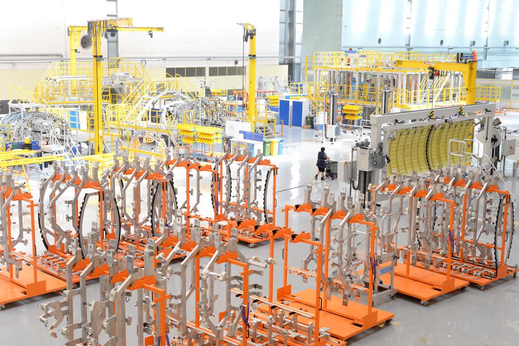 На «Авиастар-СП» открыта новая линия сборки агрегатов для лайнера МС-21